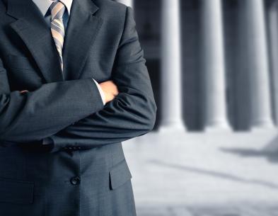 Man In Suit - traffic ticket representation springfield