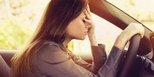 stressed female driver